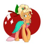 applejack dress melodicmarzipan notenoughapples