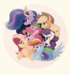 applejack fluttershy highres main_six ncmares pinkie_pie princess_twilight rainbow_dash rarity spike twilight_sparkle