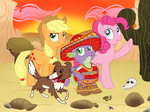applejack pinkie_pie spike winona