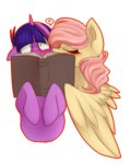 book fluttershy heart highres kiss onion-eyed-goat shipping twilight_sparkle twishy