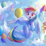 balloon cloud flying highres leafywind rainbow_dash