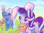 basket easter_egg egg flowers magic musicfirewind starlight_glimmer the_great_and_powerful_trixie