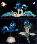 cutie_mark filly for_sale madponyscientist photo princess_celestia princess_luna sculpture