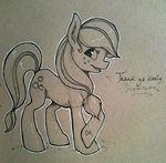 applejack friendlystray traditional_art