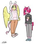 alternate_universe anthro fluttershy personality_swap pinkie_pie siden ultimare_universe
