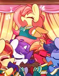 big_macintosh fluttershy highres mackinn7 rarity singing the_ponytones toe-tapper torch_song