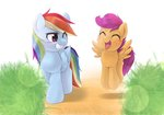 highres kuroge rainbow_dash scootaloo
