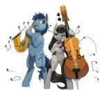 bipedal cello idrawweeklypony instrument noteworthy octavia_melody saxophone transparent