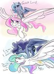 absurdres filly firimil flying highres princess_celestia princess_luna singing