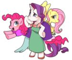bipedal clothes dress fluttershy haden-2375 pinkie_pie rarity
