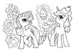 absurdres applejack apples cupcake diamond gems highres kgxspace magic rarity sketch