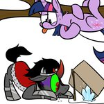 cardboard_box crystal karpet-shark king_sombra trap twilight_sparkle