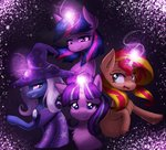 magic starlight_glimmer sunset_shimmer the_great_and_powerful_trixie twilight_sparkle vulpessentia