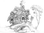 baroncoon fluttershy's_cottage scenery sketch