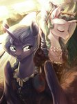 clothes dress earring highres locksto necklace princess_celestia princess_luna