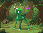 deer flowers forest highres magic original_character sirzi trees