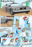 back_to_the_future car comic crossover doc_brown feather-chan ponified rainbow_dash