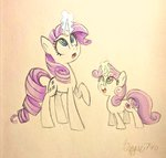 magic rarity siggie740 sweetie_belle traditional_art