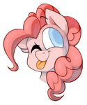 kelcasual pinkie_pie tongue wink winku