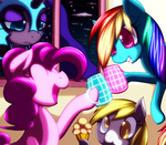 c.d.i. cup derpy_hooves muffin nightmare_moon pinkie_pie rainbow_dash
