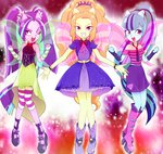 adagio_dazzle aria_blaze equestria_girls highres humanized roriaki sonata_dusk the_dazzlings wings