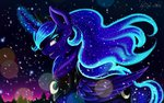 absurdres das-leben highres magic nighttime princess_luna snow