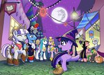 highres mare_in_the_moon moon muffinshire nightmare_night original_character parents princess_cadance shining_armor twilight's_dad twilight_sparkle twilight_velvet