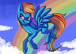 cloud nimadoodlez rainbow rainbow_dash