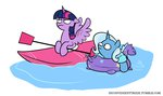 canoe egophiliac inconvenienttrixie inner_tube princess_twilight the_great_and_powerful_trixie twilight_sparkle