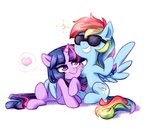 glasses jumblehorse rainbow_dash shipping sunglasses twidash twilight_sparkle
