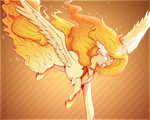 evehly flame_mane glowing_eyes highres princess_celestia