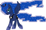 highres mixed_resolution pixel_art princess_luna up1ter vector