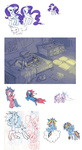 absurdres bow_tie_(g1) firefly g1 generation_leap highres humanized lineart opalescence pinkie_pie ponywise rainbow_dash rarity sketch twilight twilight_sparkle