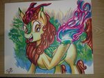autumn_blaze highres jowybean kirin traditional_art