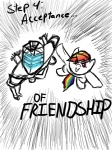 artist_unknown comic crossover dead_space friendship isaac_clarke rainbow_dash sketch