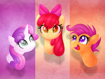apple_bloom cutie_mark_crusaders grown_up highres kimmyartmlp scootaloo sweetie_belle