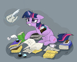 book coffee cookie inkwell lueza-35 quill twilight_sparkle