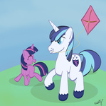 filly kite shining_armor twilight_sparkle westy543