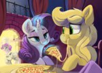 absurdres applejack dimfann highres magic pizza rarijack rarity shipping