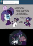 comic egophiliac flashlight goggles highres humanized labcoat paper_fan rarity robot steamquestria twilight_sparkle