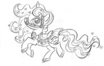 bridle dress fim_crew lauren_faust production_art rarity sketch