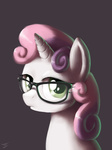 glasses hipster swaetshrit sweetie_belle