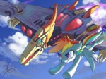 crossover flying highres raikoh14 rainbow_dash swoop transformers