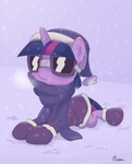 alasou coat goggles hat scarf twilight_sparkle winter