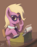 background_ponies fashion_secretary raikoh14 typewriter