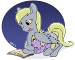 book cuteosphere derpy_hooves dinky_hooves reading