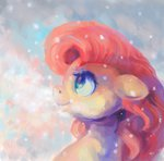 fluttershy highres malinetourmaline snow snowing winter