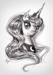 highres princess_luna theflyingmagpie traditional_art