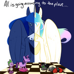 cartoonlion chess contrast king_sombra princess_celestia princess_luna spike toy twilight_sparkle