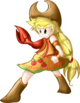 applejack artist_unknown humanized the_claw